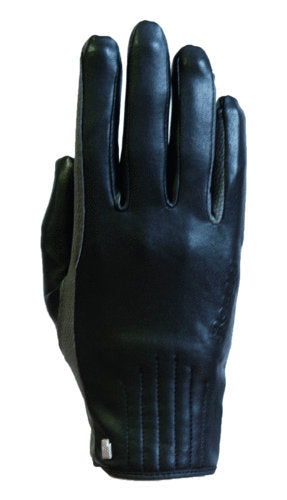 Roeckl Wels Black and Grey leather Glove Style-conscious equestrians who seek a warm, comfortable and elegant riding glove in a classic and at the same time classy design, will love the WELS.