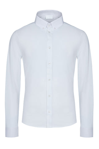 Last One! Reduced was £149 NOW only £99! Toscana L/S White Knitted shirt