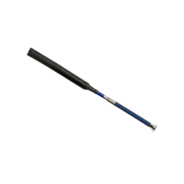 Darley equestrian whips are BS and BRC legal whips. The York has a slim grip handle with silver top and comes in Royal Blue