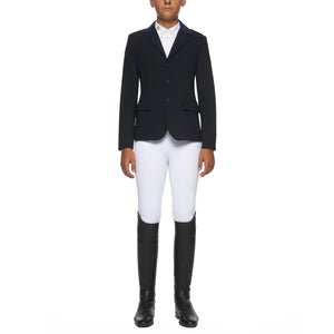 Cavalleria Toscana boys show jacket gives a smart finish to any young riders wardrobe. Luxury Italian fabrics and machine washable.