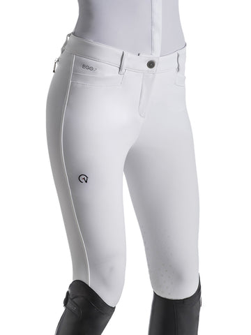 EGO7 white jumping breeches with knee grip.