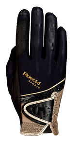 Roeckl Black and Gold Madrid Riding Glove
