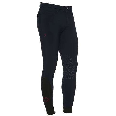 Cavalleria Toscana's Mens classic system grip breeches in Navy are an essential part of any mens riders wardrobe.