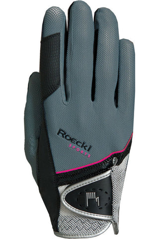 Roeckl Grey and Pink Madrid Riding Glove