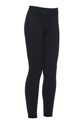 Cavalleria Toscana Childrens High waist CT Phases BreechesCavalleria Toscana have developed the prefect young riders leggings. These pull on breeches have knee grips. They fit like a breech but area comfortable legging.   Available in Navy and Black