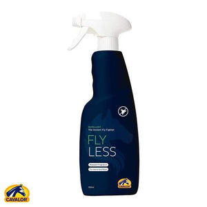 Cavalor Flyless contains Icaridine - an insect repellent molecule that is registered for use in both humans and horses.  It is the ultimate horse fly repellent spray.  It is non-sticky and non-greasy and will not harm you, your horse or clothing.