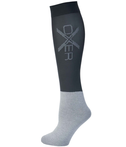 Oxer Riding Socks Grey- Pack of 3