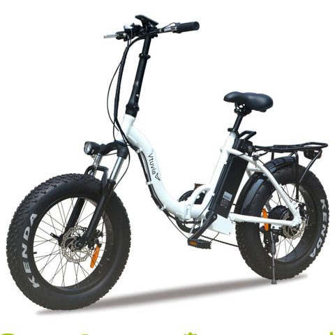 Fat tire Step-thru folding ebike