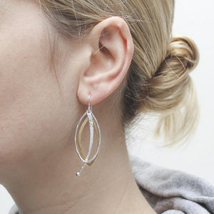 Layered Oval and Pendulum Earring