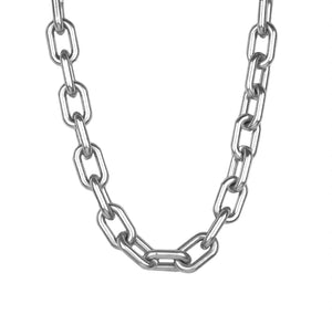 Large Hollow Link Necklace