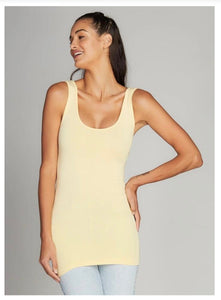 Bamboo Double Scoop Tank One Size -Assorted Colors - Accent's Novato