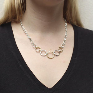 Hammered Rings Necklace