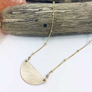 Gold Half Circle Necklace