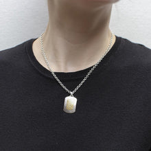 Load image into Gallery viewer, Patterned Rounded Rectangle Necklace