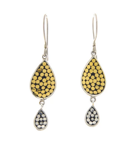 Be A Light Concave Teardrop Earrings - Accent's Novato