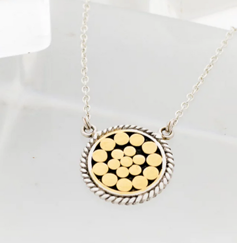 Be A Light French Wrap Disc Necklace - Accent's Novato