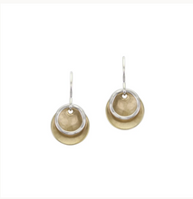 Load image into Gallery viewer, Small 2 tone Disc Earring - Accent's Novato