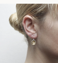 Small 2 tone Disc Earring - Accent's Novato