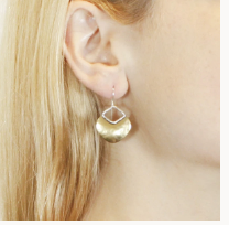Load image into Gallery viewer, Organic Disc Earrings - Accent's Novato