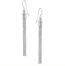 Load image into Gallery viewer, Small Ball Chain Tassel Earring - Accent's Novato