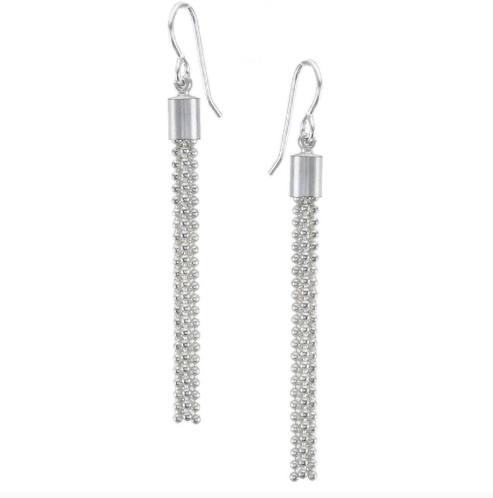 Small Ball Chain Tassel Earring - Accent's Novato