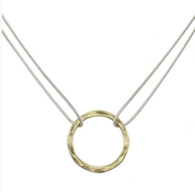 Load image into Gallery viewer, Hammered Ring Necklace - Accent's Novato
