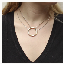 Hammered Ring Necklace - Accent's Novato