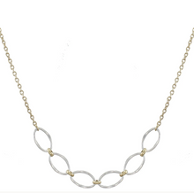 Load image into Gallery viewer, Small Hammered Oval Rings Necklace - Accent's Novato
