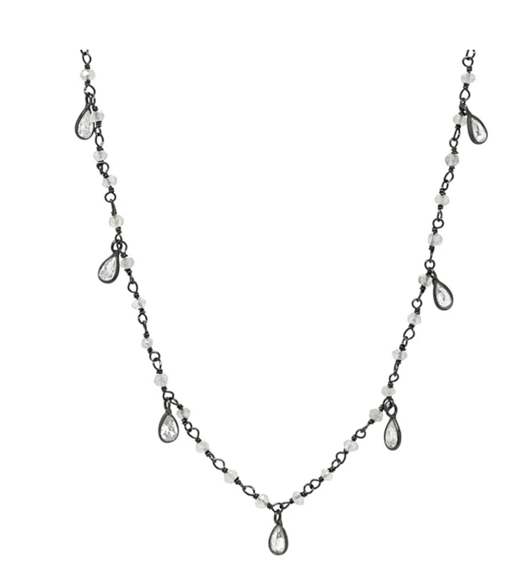 CZ Teardrop Necklace - Accent's Novato