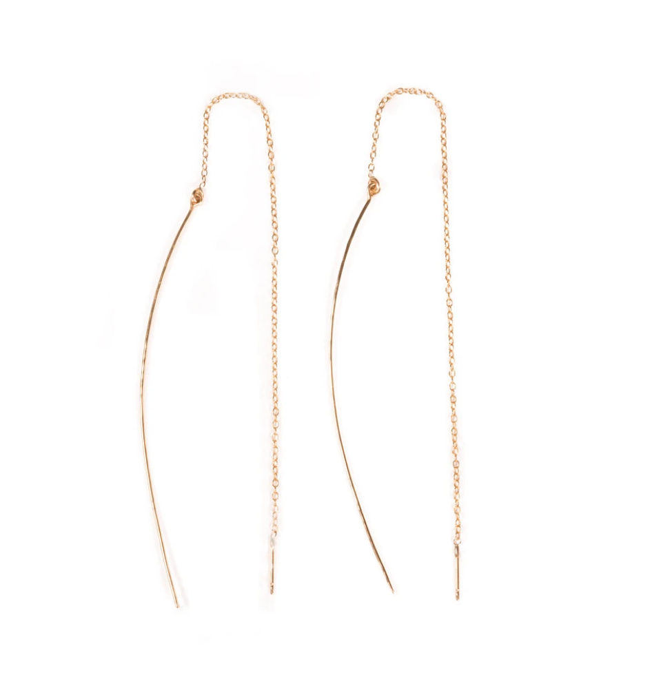 Hammered Arc Threader Earrings - Accent's Novato