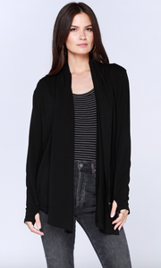 Long Sleeve Draped Cardigan