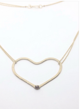 Load image into Gallery viewer, Riveted Heart Necklace