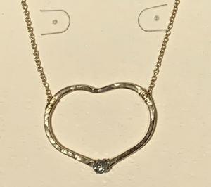 Riveted Heart Necklace Small
