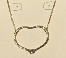 Load image into Gallery viewer, Riveted Heart Necklace Small