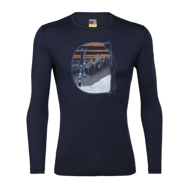 Icebreaker 2021 Men's 200 Oasis LS Crew Mt Blanc Baselayer