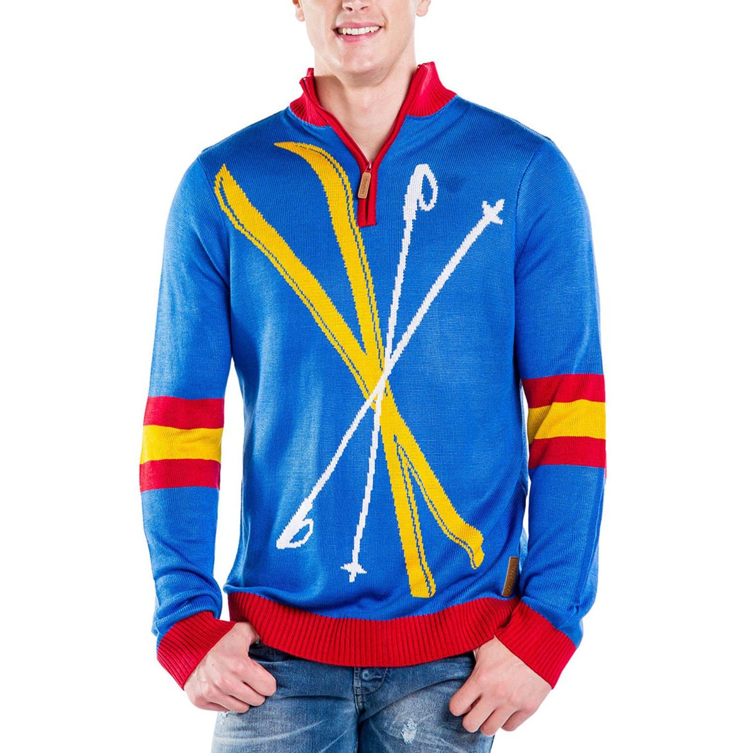 Tipsy Elves Men's Skis and Poles Sweater