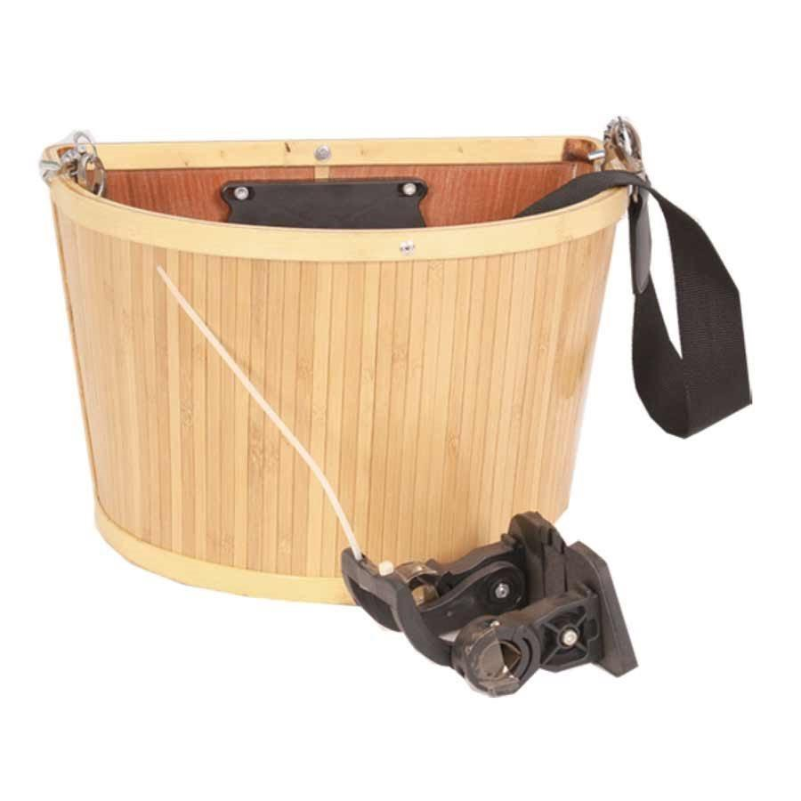 EVO - E-Cargo Bamboo QR Front Basket-Bike Accessories-Kunstadt Sports