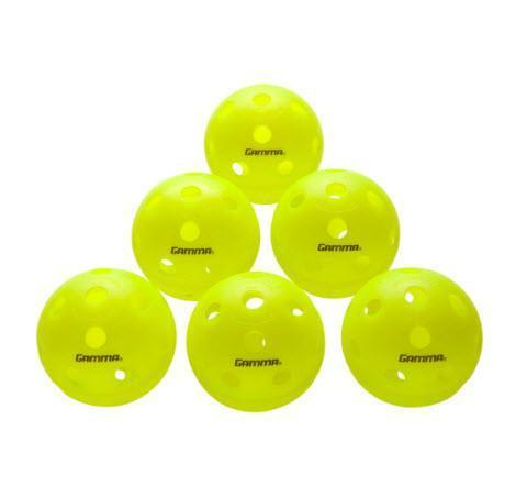 Gamma - Photon Indoor Pickleball Green Pack of 6-Pickleball-Kunstadt Sports