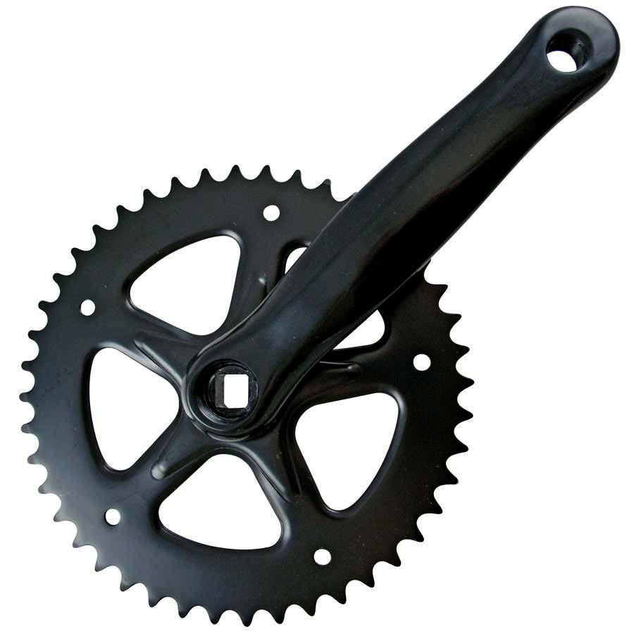 Lasco - Crankset 44T Black 170mm-Bike Parts-Kunstadt Sports