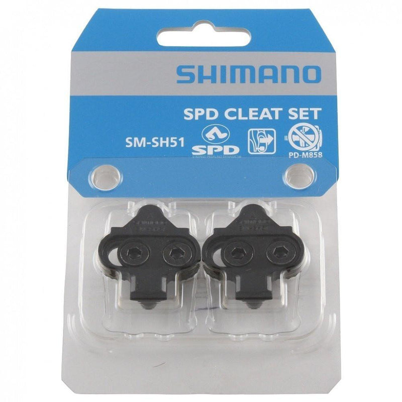 Shimano SM-SH51 Single Release SPD Cleat Set-Bike Accessories-Kunstadt Sports