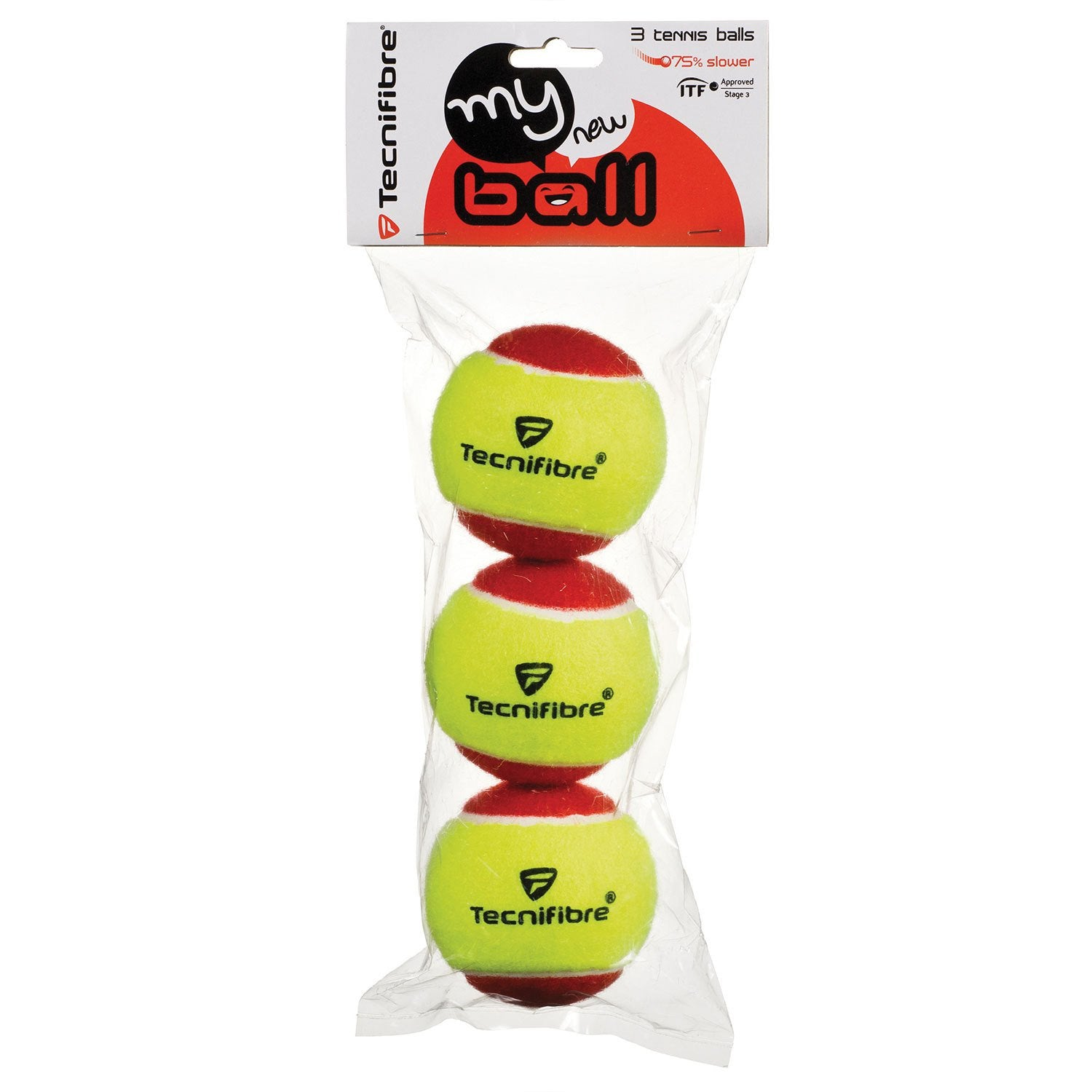 Tecnifibre - Stage 3 Felt Balls-Tennis Accessories-Kunstadt Sports
