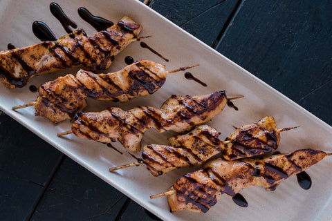 Coconut Aminos Cashew Satay Chicken Skewers