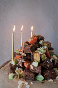 Rustic Brownie Cake
