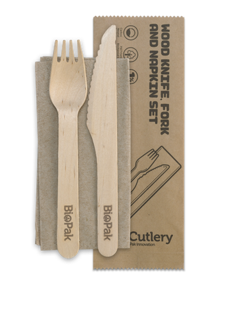 Compostable Cutlery & Napkin Set