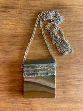 Load image into Gallery viewer, Picture Jasper and Pewter Necklace