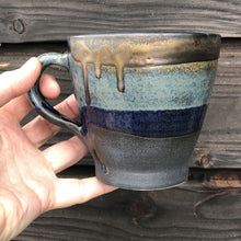 Load image into Gallery viewer, Stoneware mug with crystal and bronze glazes