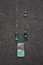 Load image into Gallery viewer, Amazonite and pewter necklace