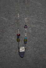Load image into Gallery viewer, Lapis Lazuli and pewter necklace