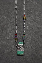 Load image into Gallery viewer, Chrysoprase with pewter necklace