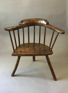 Small 18th century Cardiganshire stick chair